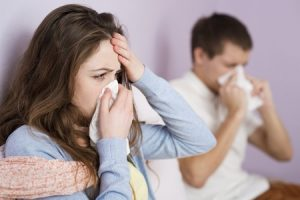 Sick man and women